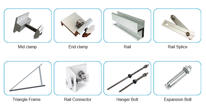Solar panel roof mounts kit for concrete roof