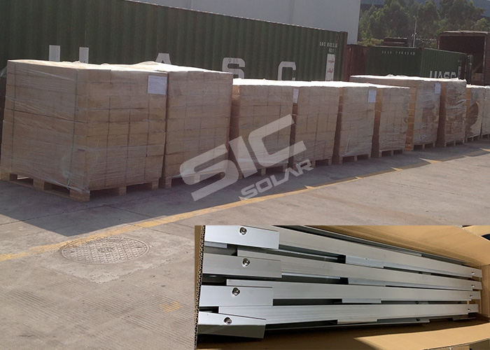 package for solar panel mount triangle frame