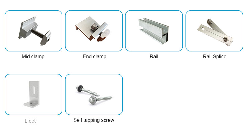 Solar panel roof mounting kits