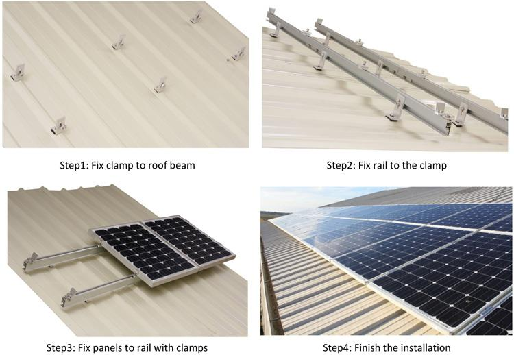 Solar pv roof mounting systems