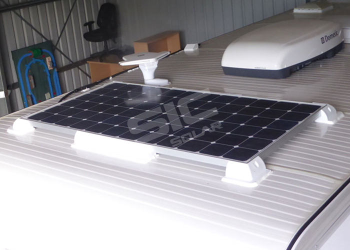 Mounting solar panels on van roof