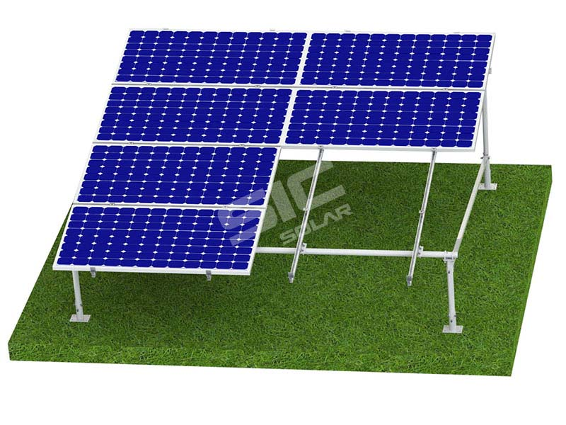 Ground solar panel mount system