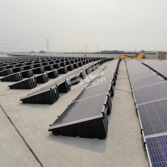 Ballasted ground mount solar