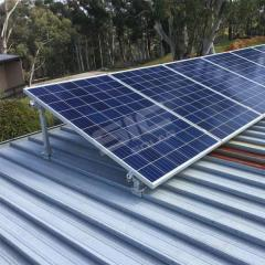Adjustable solar panel tilt frames