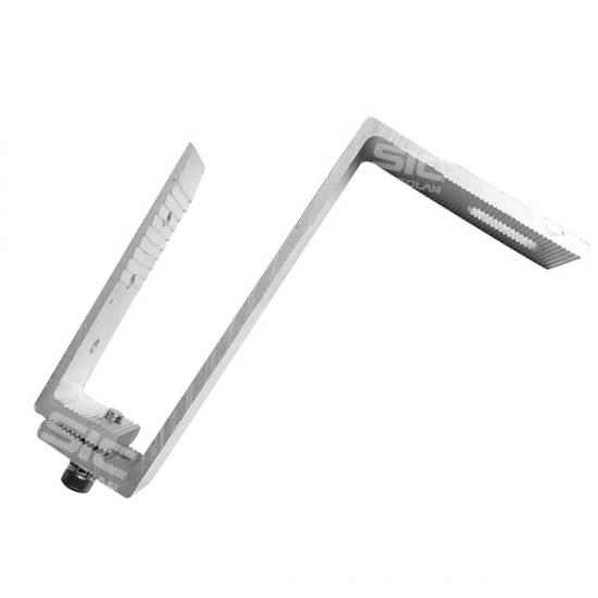 Solar aluminium hook for tile roof